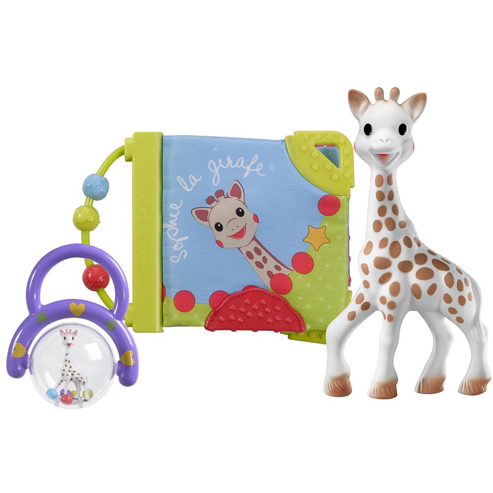 coffret de naissance sophie la girafe de sophie la girafe. Black Bedroom Furniture Sets. Home Design Ideas
