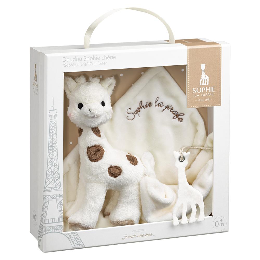 doudou sophie ch rie en boite cadeau de sophie la girafe. Black Bedroom Furniture Sets. Home Design Ideas