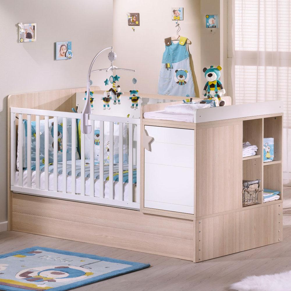 lit volutif combin norway lit b b de sauthon easy adbb autour de b b. Black Bedroom Furniture Sets. Home Design Ideas