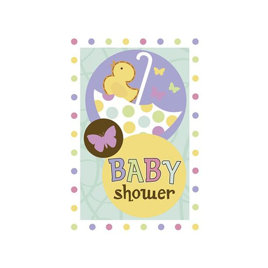 "6 invitations ""Baby Shower"""