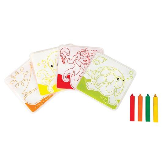 Carte de bain à colorier