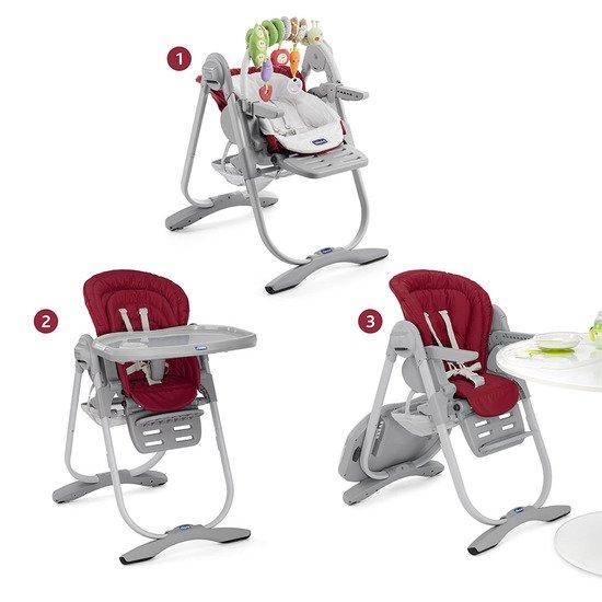 chaise haute volutive polly magic chicco de chicco. Black Bedroom Furniture Sets. Home Design Ideas