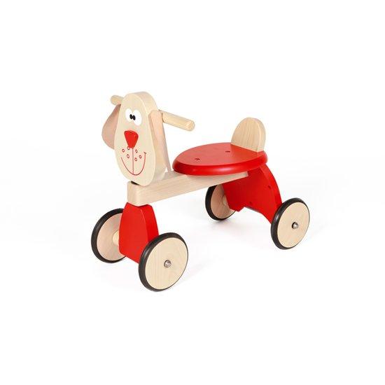 Porteur en bois chien