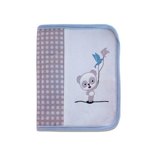 "Protège carnet de santé  ""Panda bleu"""