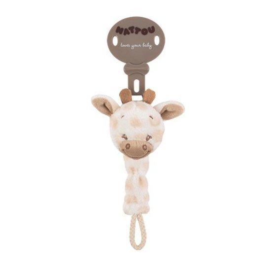 Attache-sucette la girafe charlotte et rose