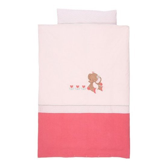 Housse couette +taie charlotte et rose