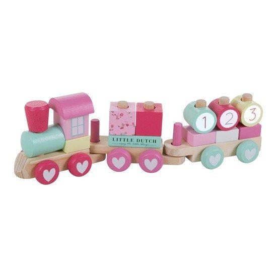 Train à blocs pink blossom