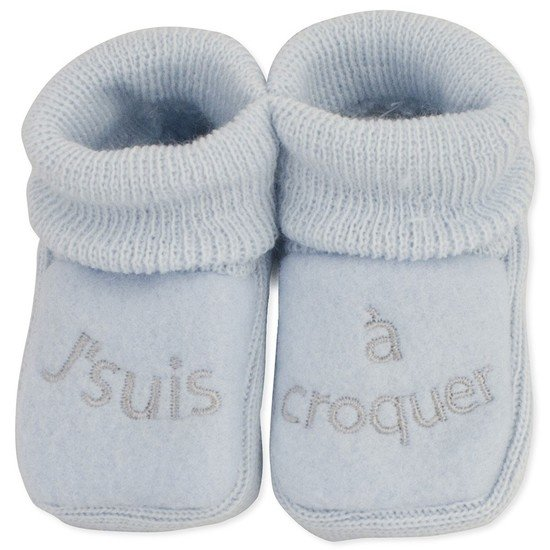 "CHAUSSONS BRODERIE ""J'SUIS A CROQUER"""