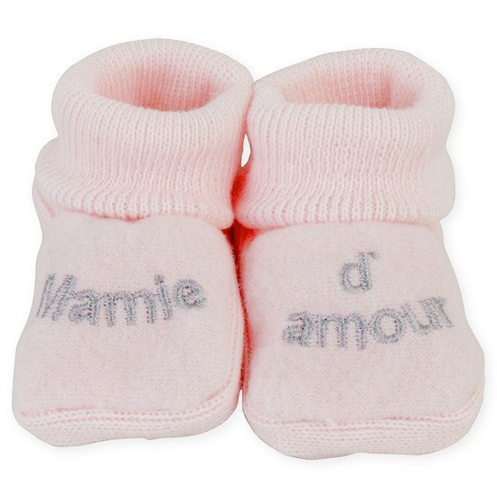 "CHAUSSONS BRODERIE ""  MAMIE D'AMOUR  """