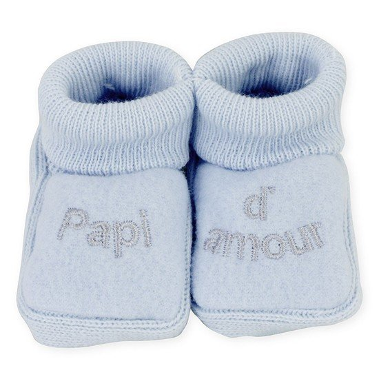 "CHAUSSONS BRODERIE "" PAPI D'AMOUR  """