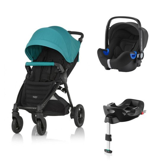 Pack poussette B Motion 4 plus + Coque Baby-safe i Size + base flex