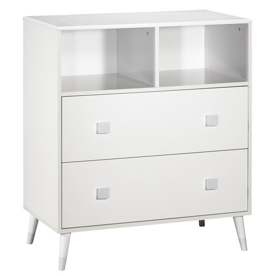 Commode 2 tiroirs et 2 niches Candie