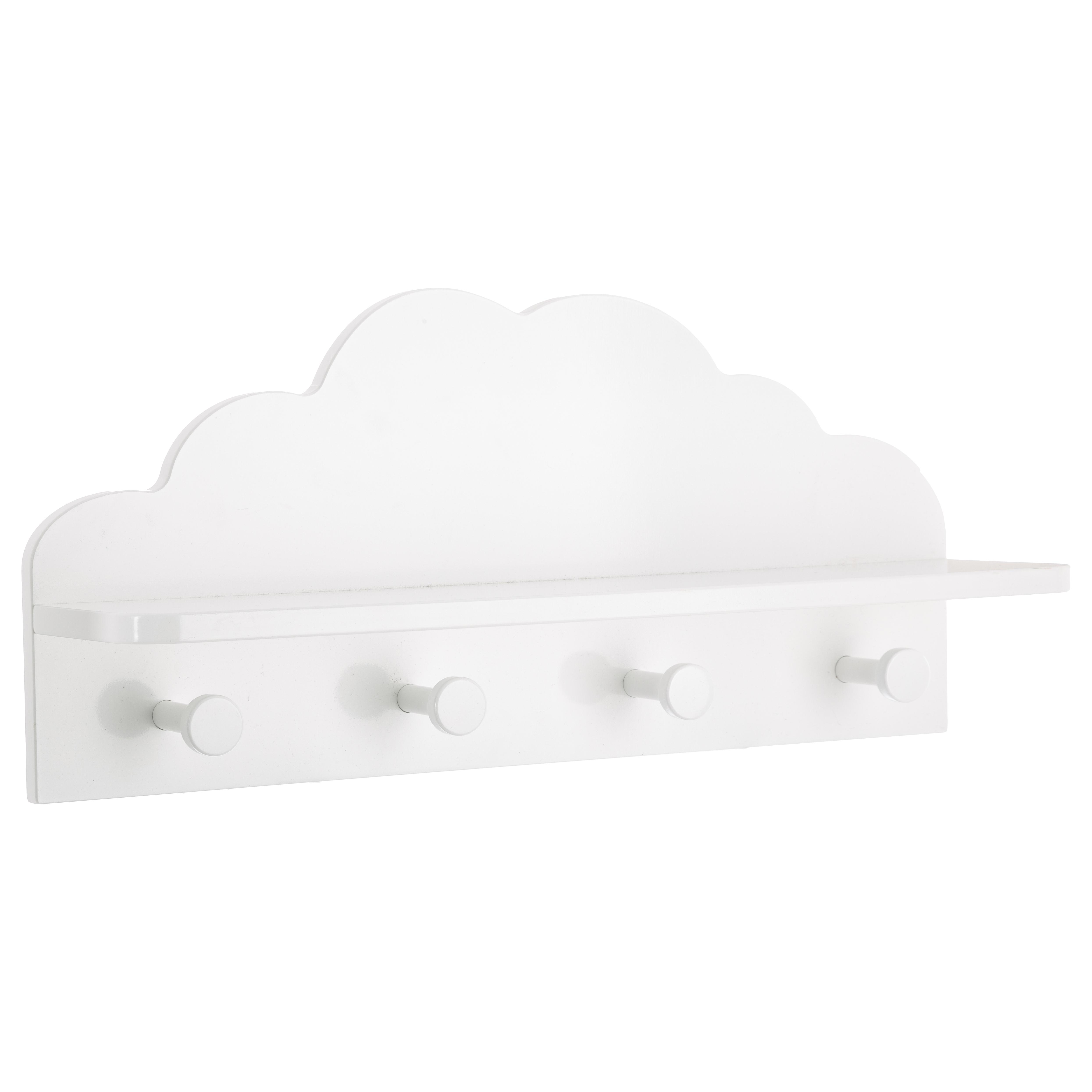 Patère nuage 4 crochets BLANC Atmosphéra créateur d'intérieur for kids