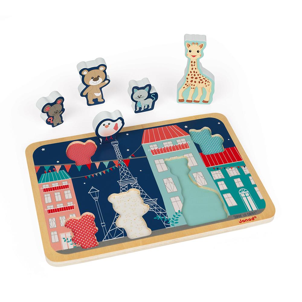 Chunky Puzzle Sophie La Girafe 5pcs MULTICOLORE Janod