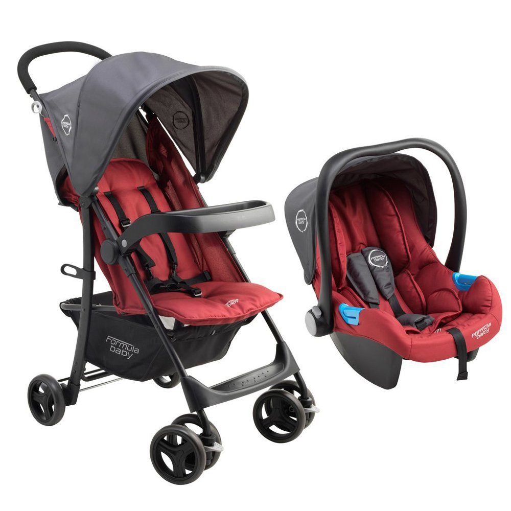 Pack poussette duo Travel Light ROUGE Formula Baby