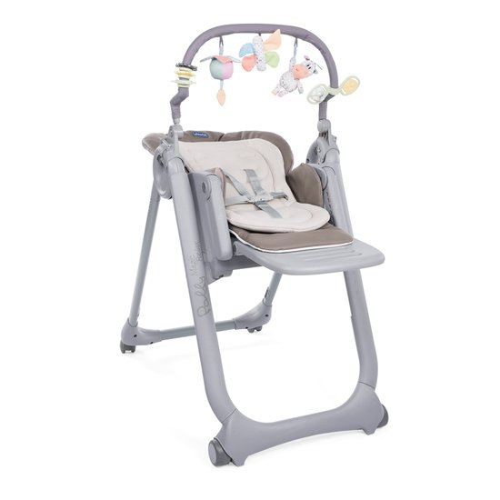 Chicco Chaise Haute Polly Magic Relax - 4 Roues cocoa
