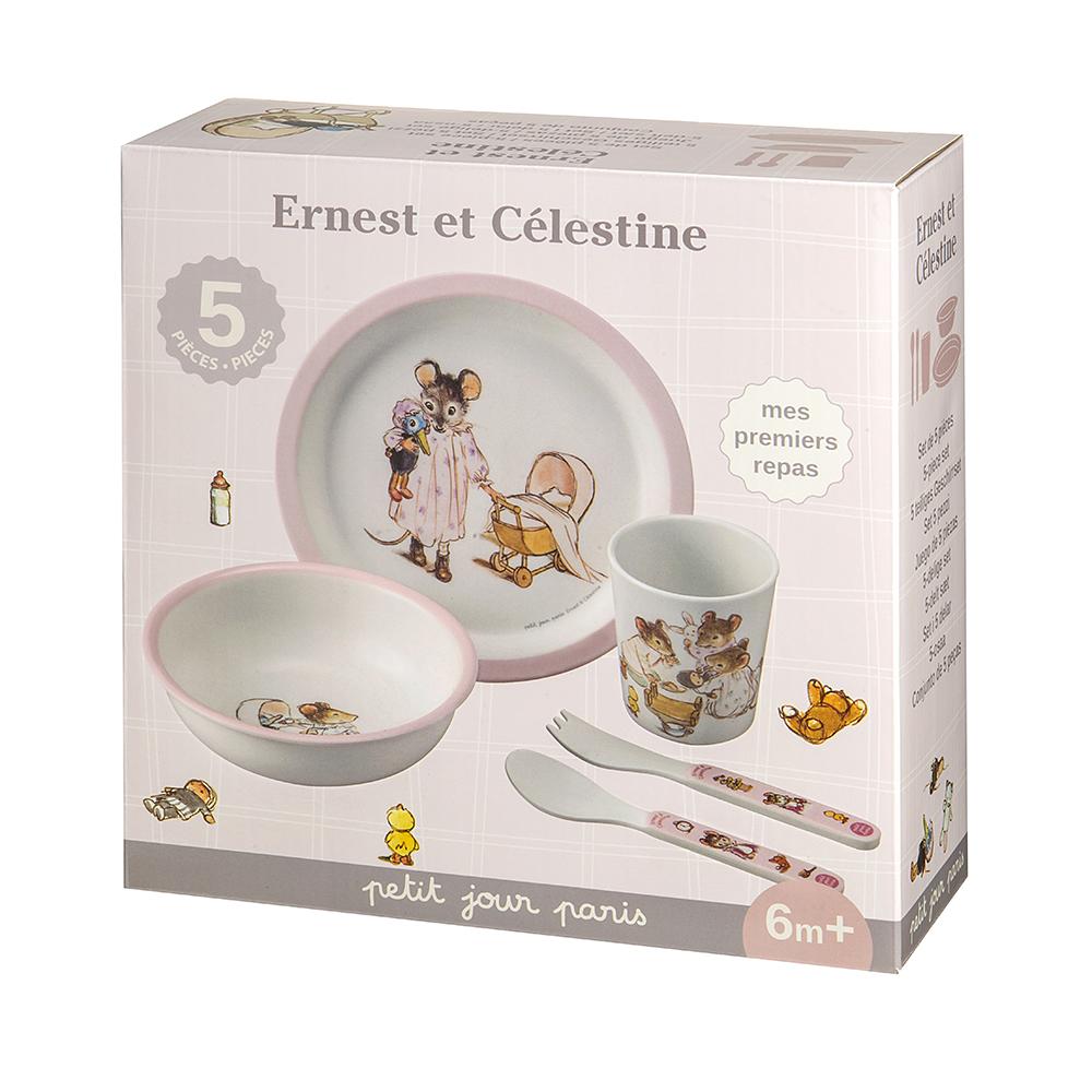 Coffret cadeau - 5 pièces Ernest et Celestine ROSE petit jour paris