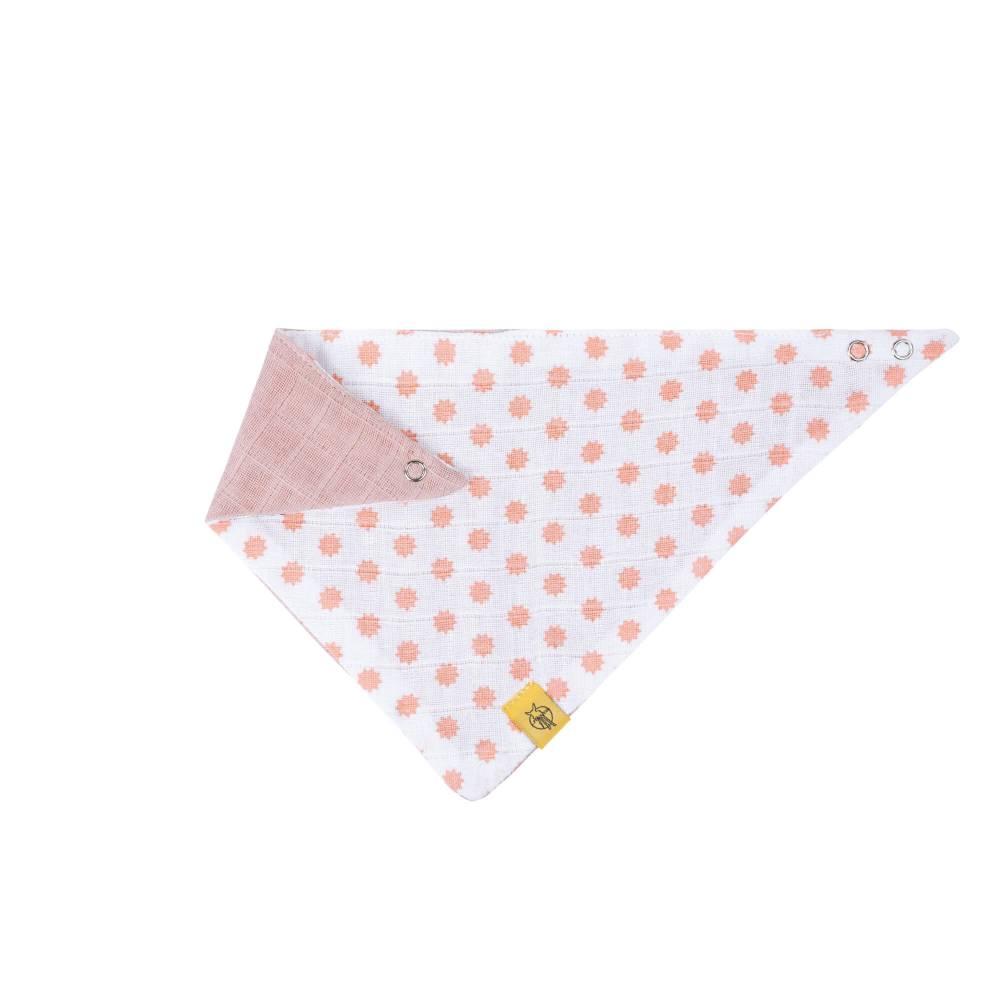 Bandana en mousseline de coton Little Chums Étoiles ROSE Lässig