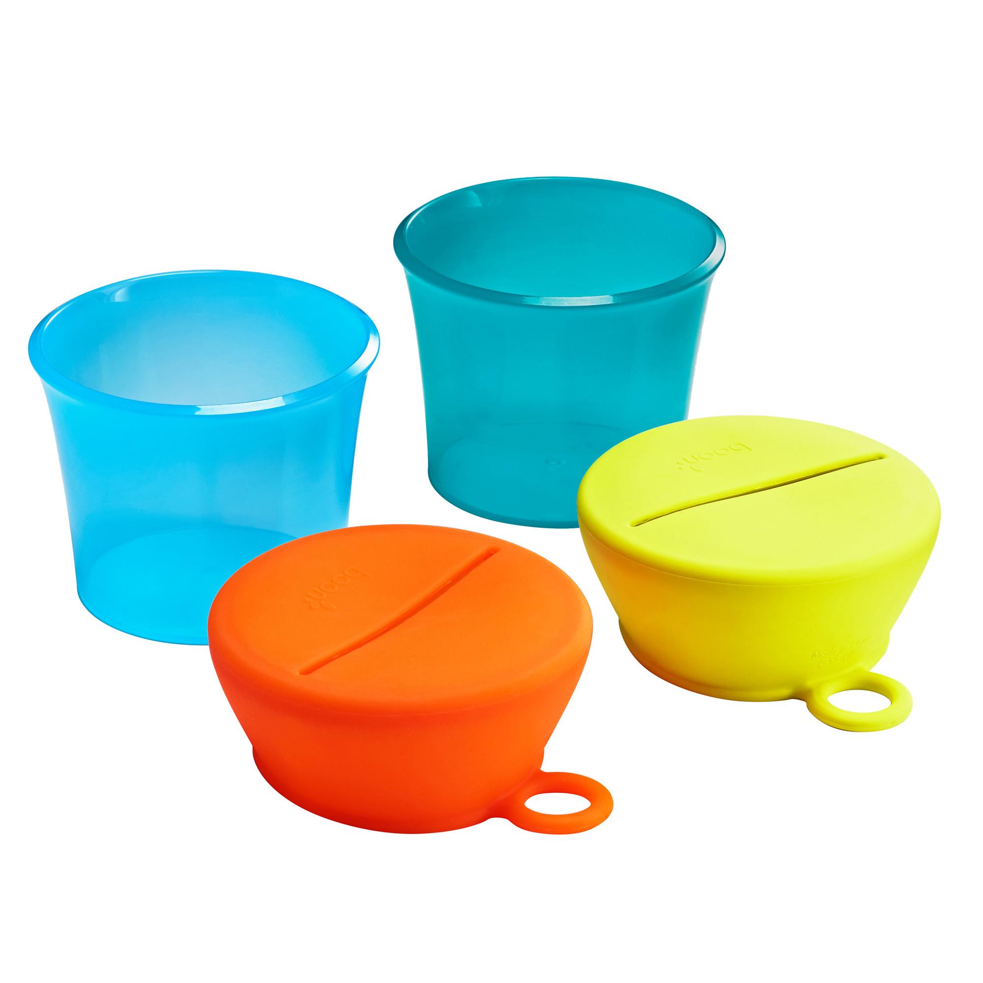 2 Pots + 2 couvercles Snug Snack MULTICOLORE Boon