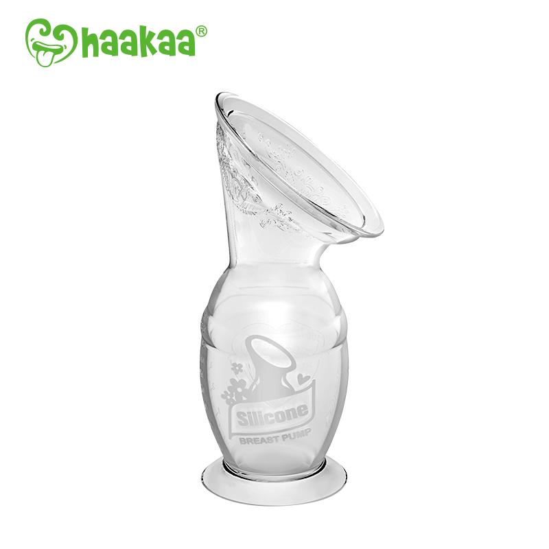 Recueil-lait Silicone avec base ventouse BLANC Haakaa