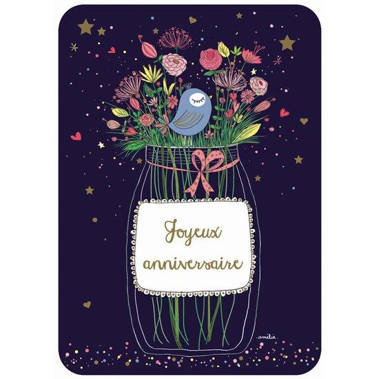 Carte Anniversaire.Carte Joyeux Anniversaire Fleurs