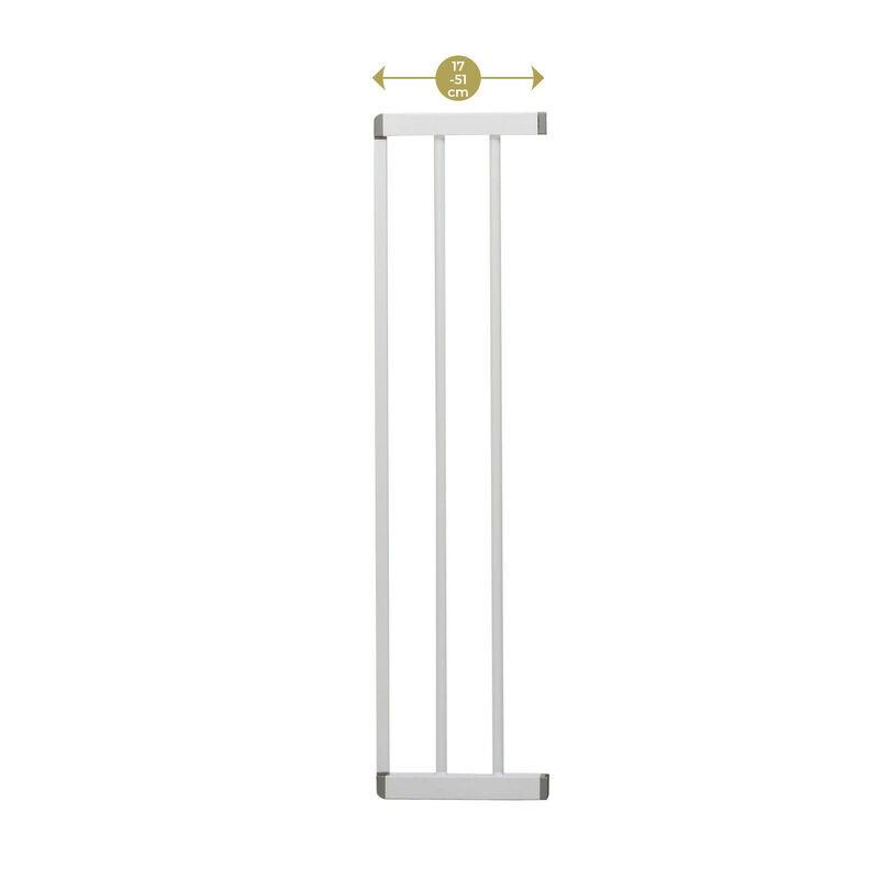 Extension 17 cm pour barrière 4712 Easy Close Pression Metal - BLANC Geuther