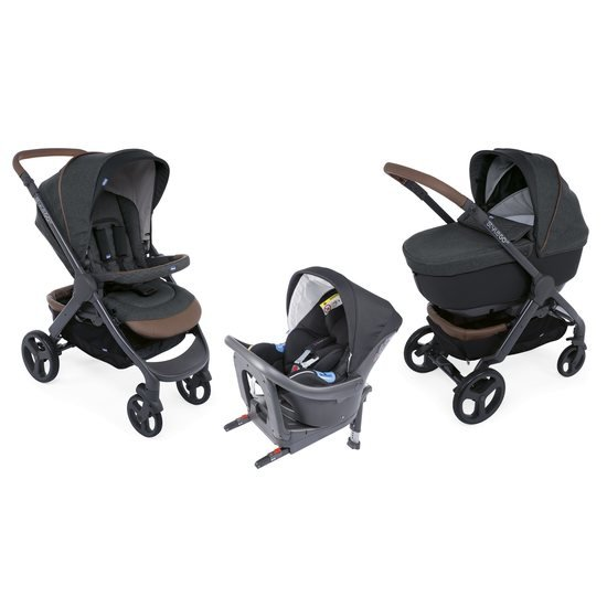 Chicco Pack trio poussette StyleGo Up i-Size Bébécare graphite