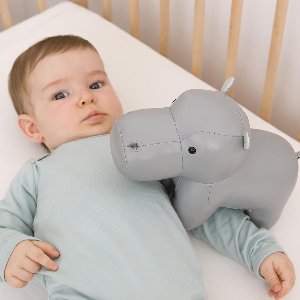 Boite à musique Sam l'Hippopotame GRIS Little big friends