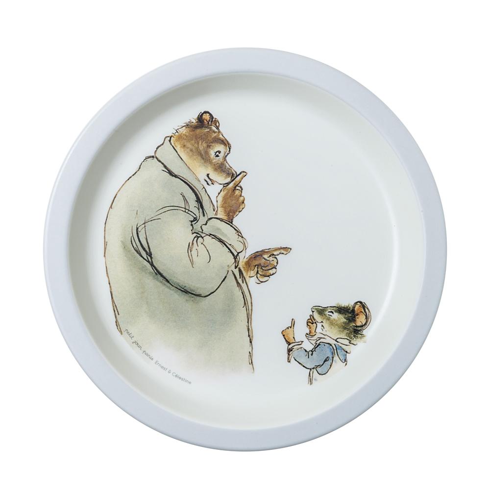 Assiette bébé Ernest et Celestine BLEU petit jour paris