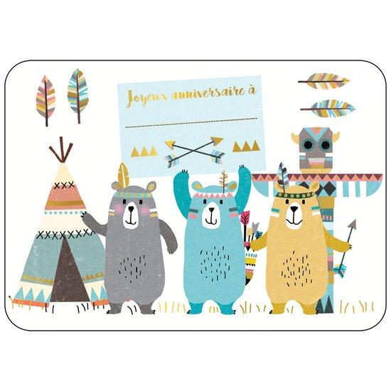 Carte Joyeux Anniversaire A Indien Ours Editions Cartes D