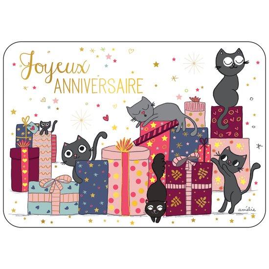 Carte Joyeux Anniversaire Chat Editions Cartes D Art De Editions