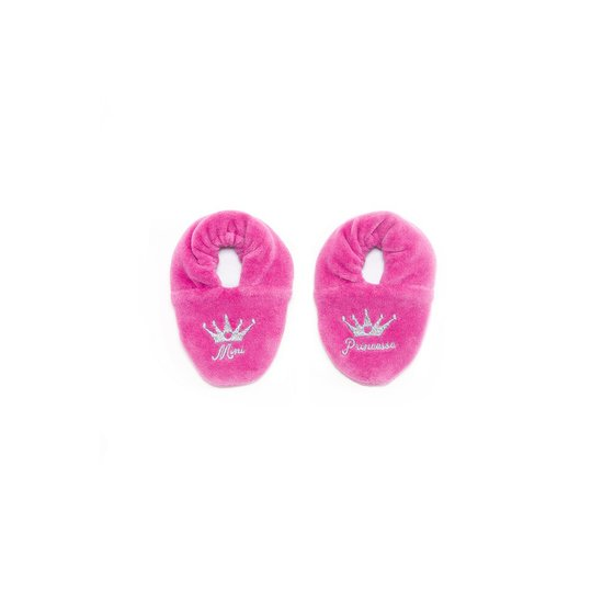BB&Co Chaussons Velours Brode Mini Princesse 0-6 Mois Rose Fonce Bb&Co 0/6 Mois