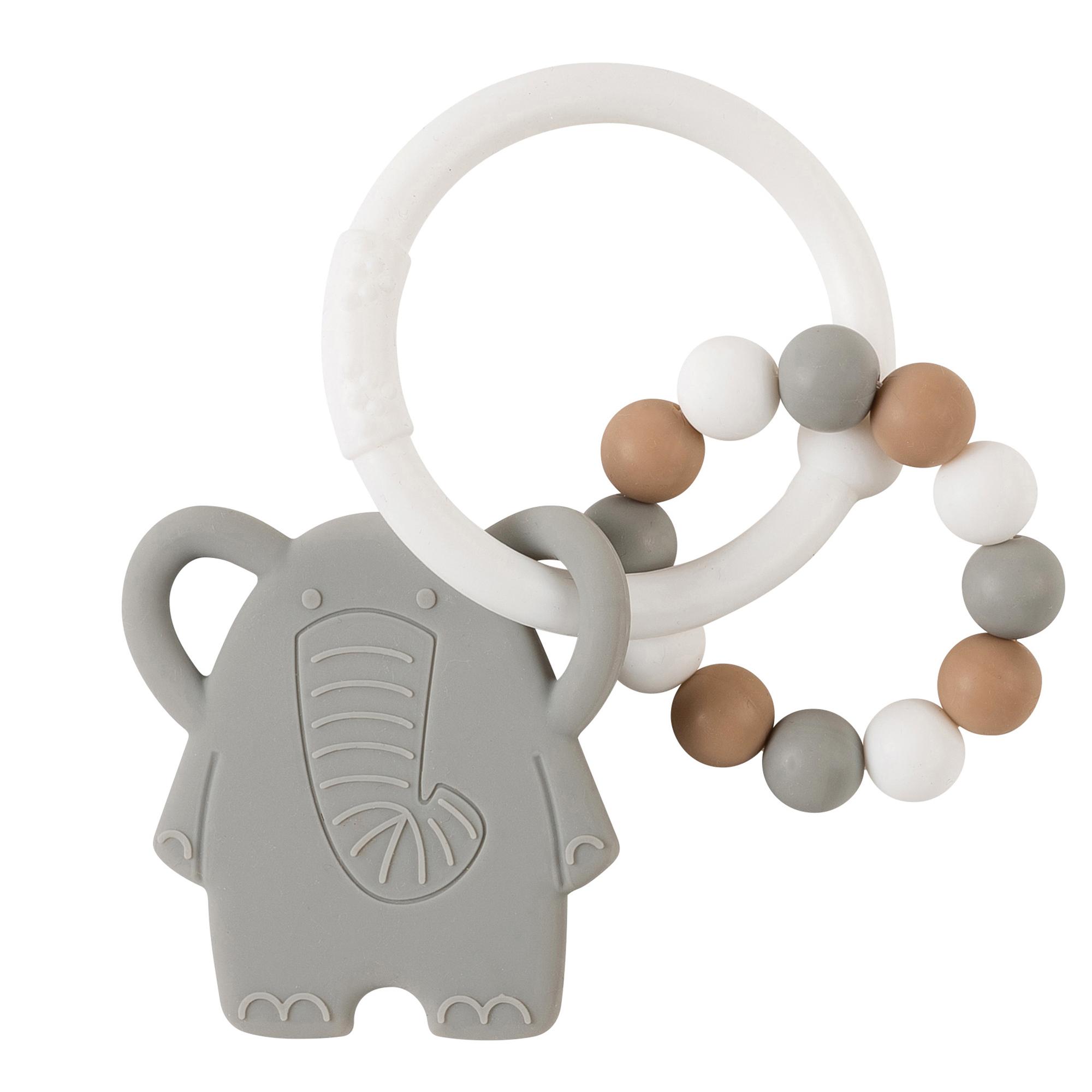 Anneau dentition tout silicone éléphant GRIS Nattou