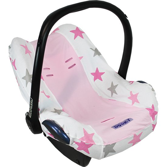 Dooky Housse de protection coque Seat cover ETOILES ROSE / UNI ROSE