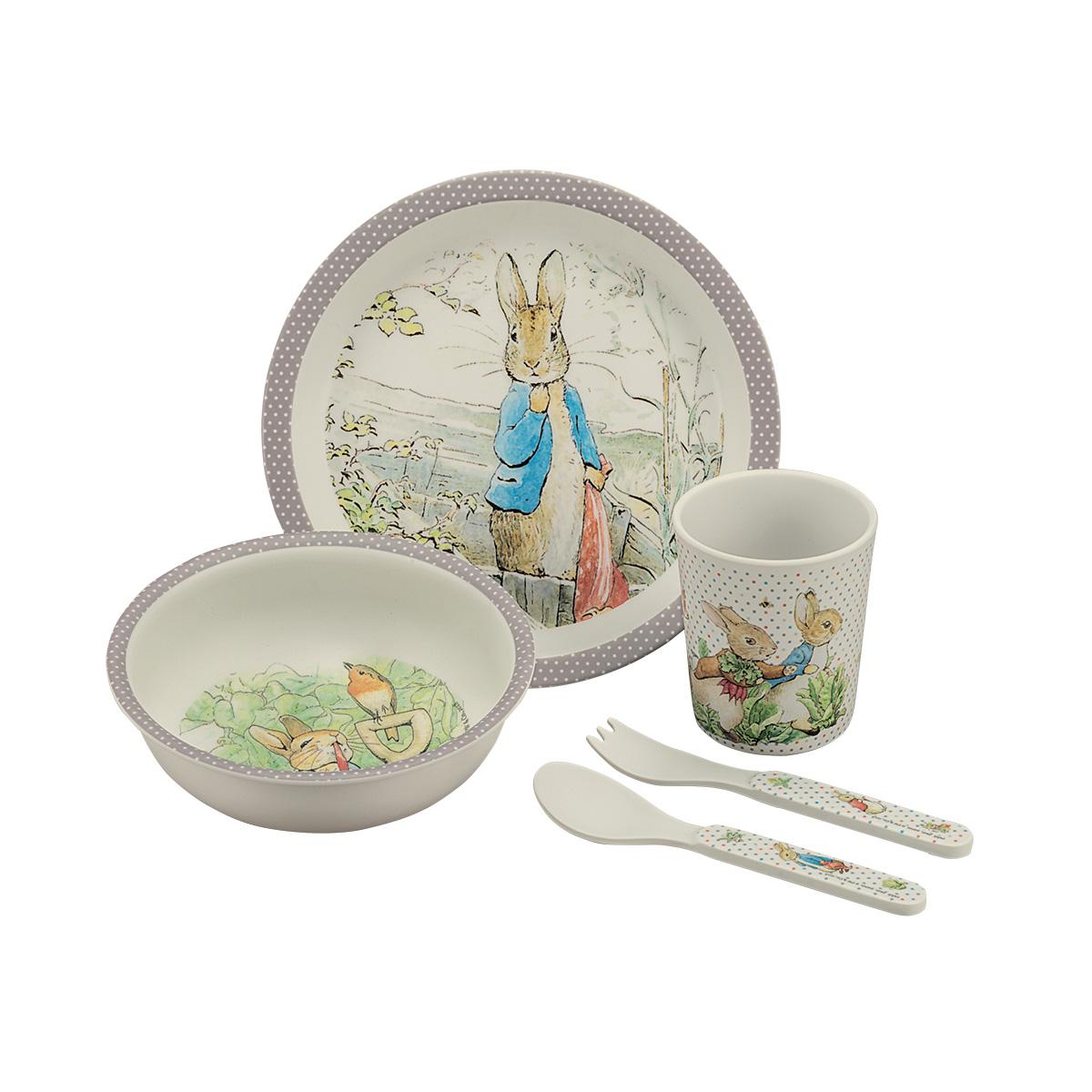 Coffret repas Bambou Beatrix Potter GRIS petit jour paris
