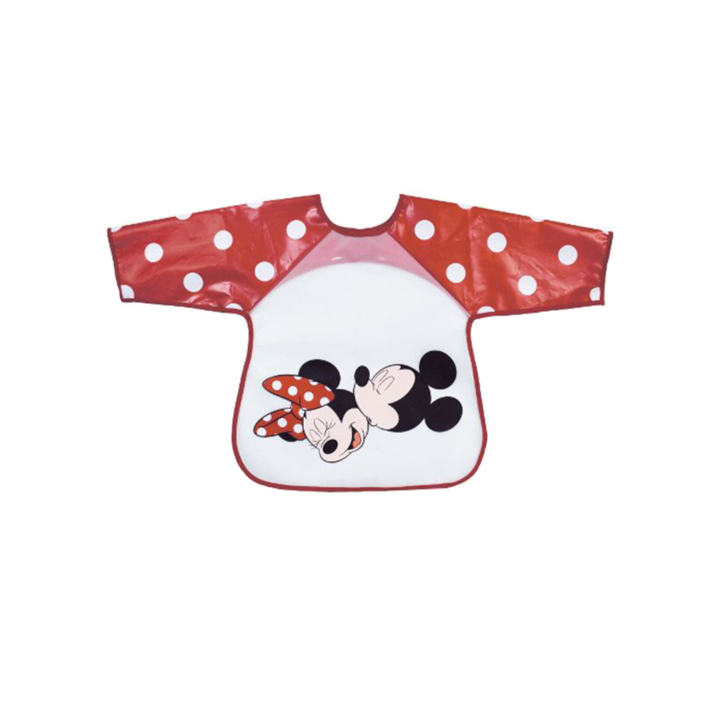 BabyCalin Bavoir manches longues Mickey Rouge 2ème âge