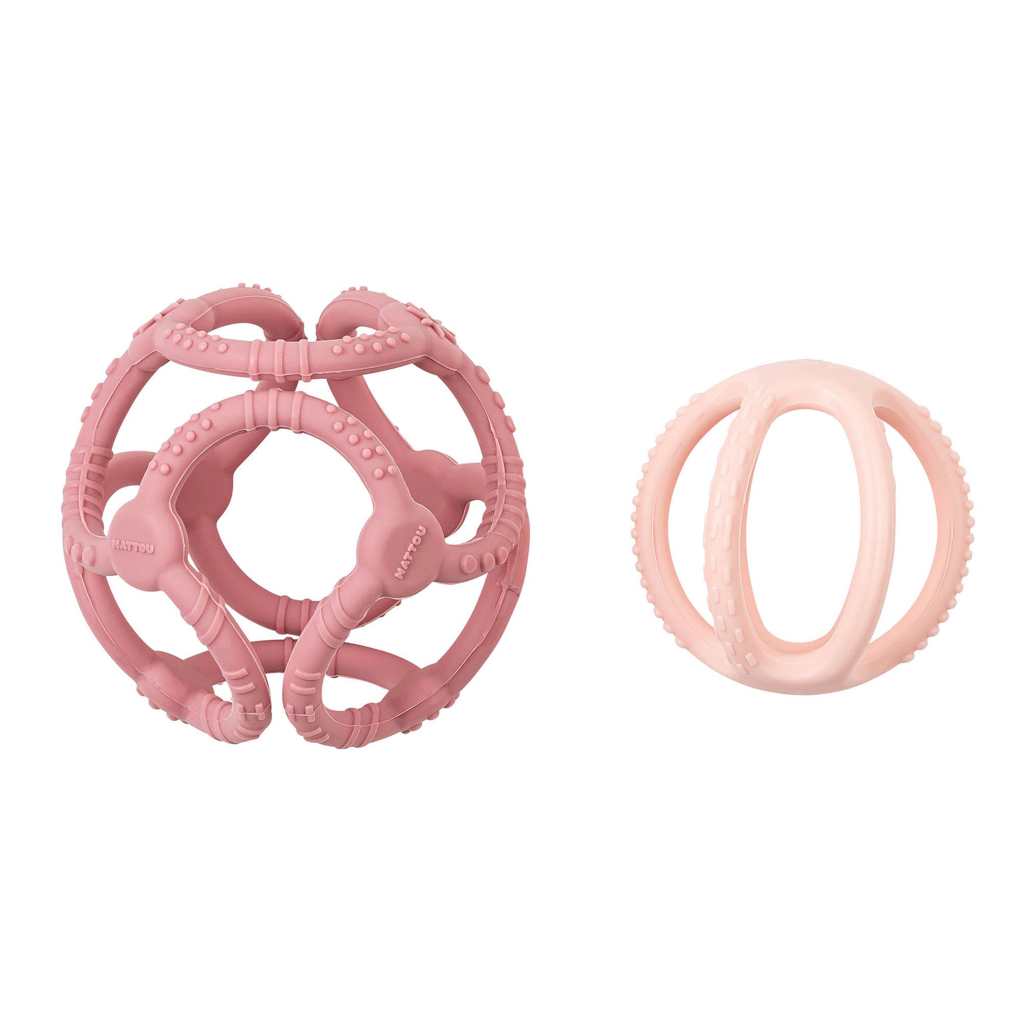 SILICON set de 2 balles en silicone ROSE Nattou