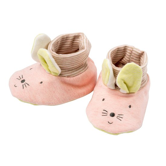 Moulin Roty Chaussons Les petits dodos Souris 0/6 mois