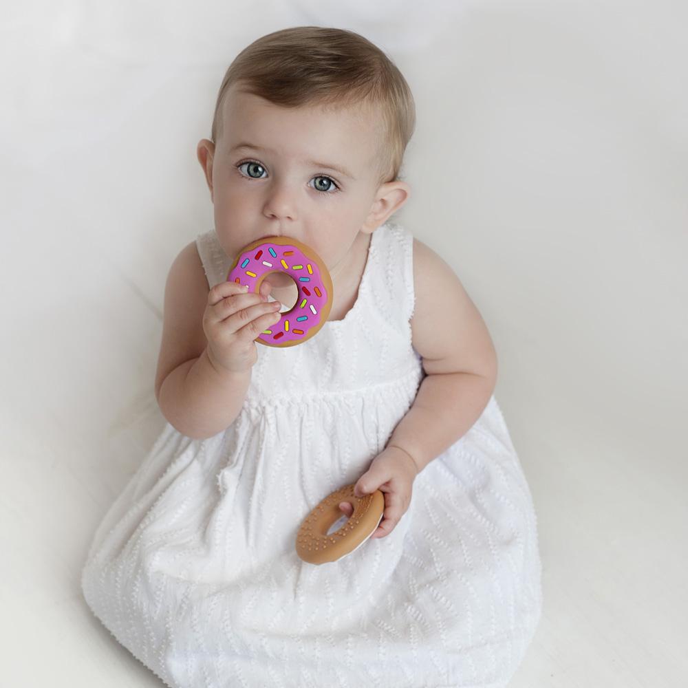 Jouet de dentition Donut ROSE SilliChews