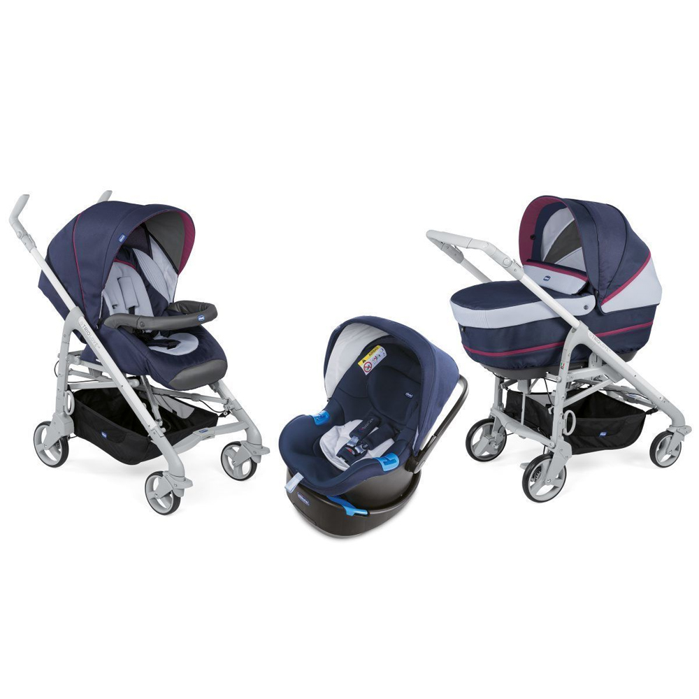 Chicco Pack trio poussette Love Up Bebecare earl grey