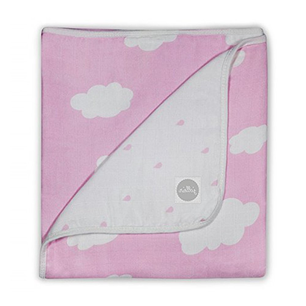Jollein Couverture Clouds rose 75/100cm