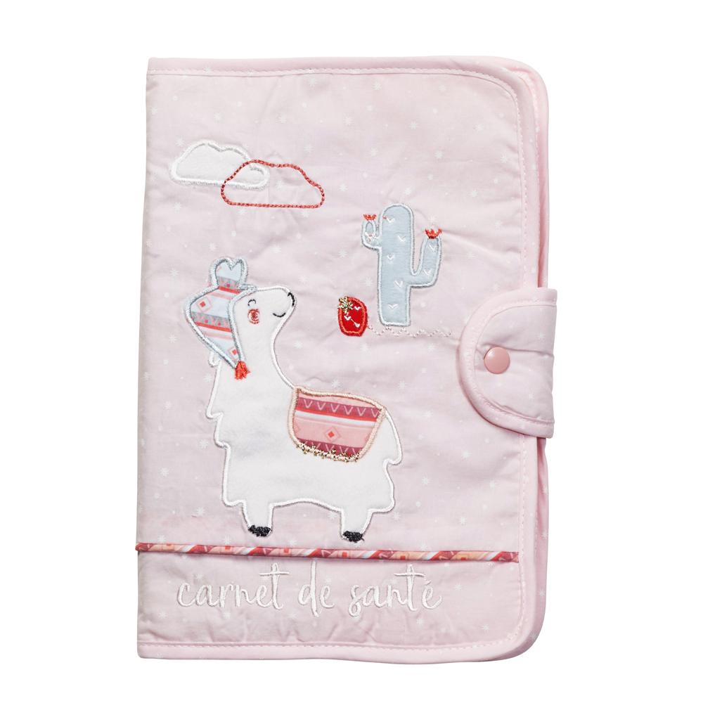 Protege carnet de sante Mila ROSE Sauthon Baby Déco