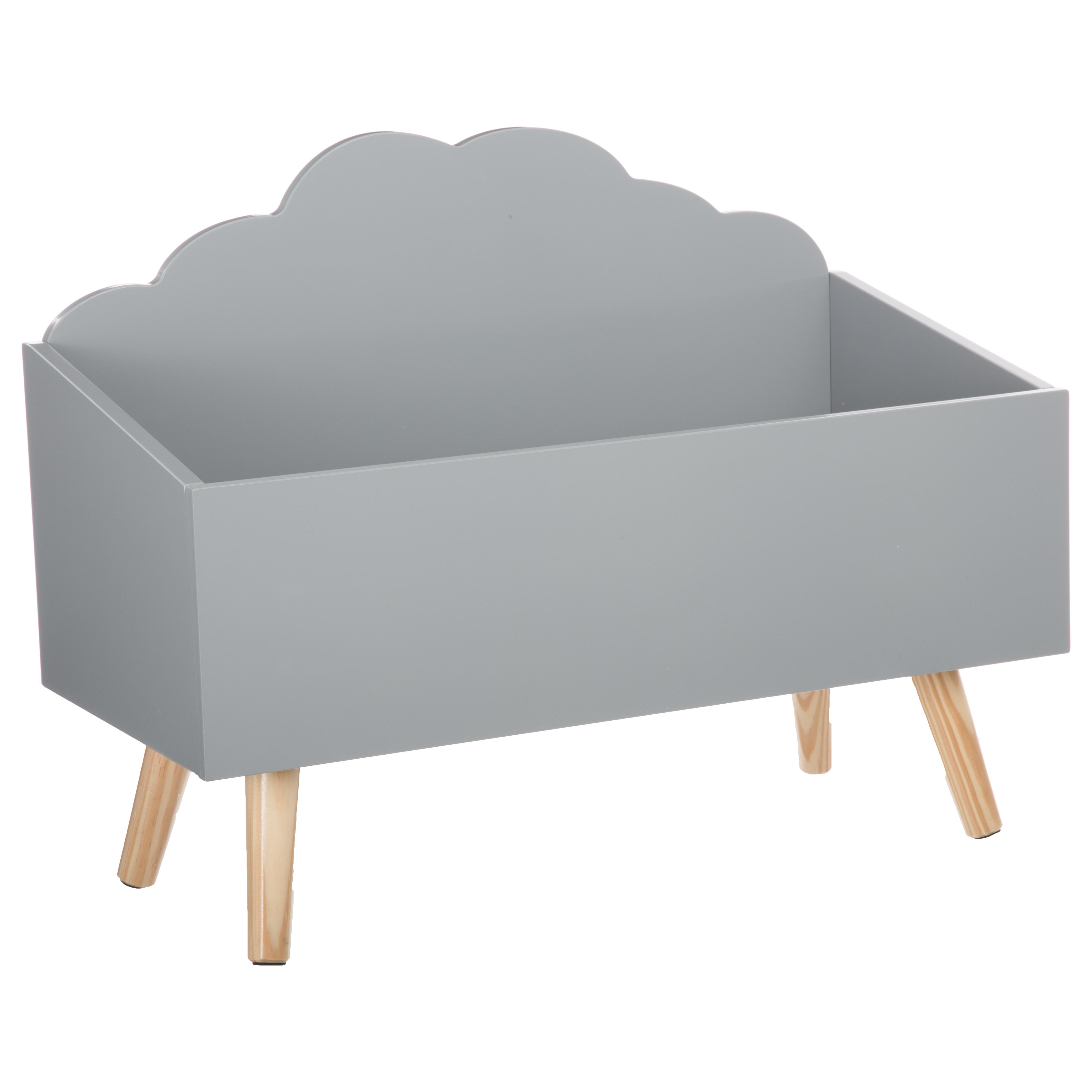 Coffre de rangement nuage GRIS Atmosphéra créateur d'intérieur for kids