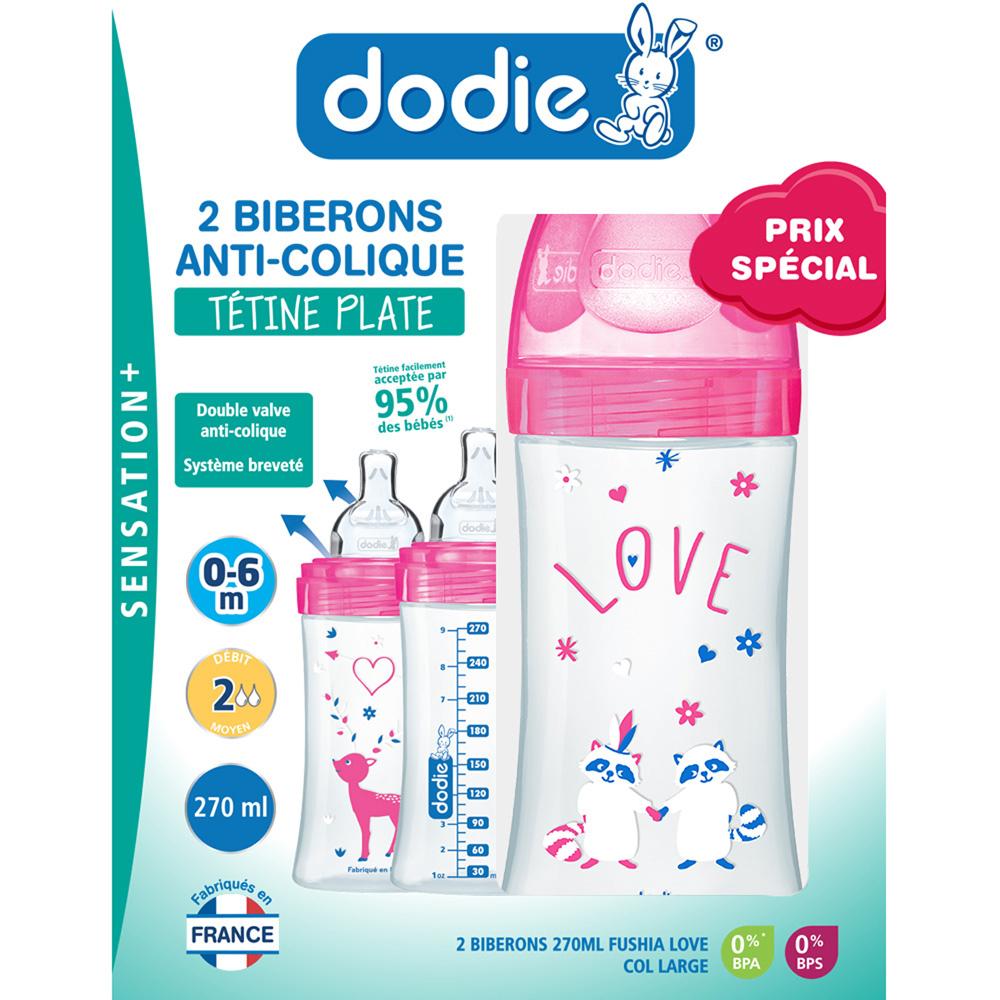 Coffret 2 biberons Sensation+ ROSE Dodie