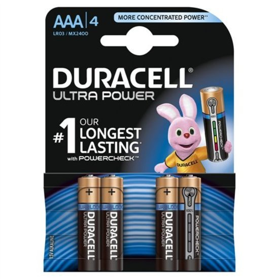 Duracell 4 piles Ultra power AAA - LR03