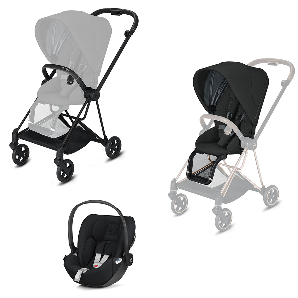 Cybex Pack poussette duo Mios + assise + coque Cloud Z