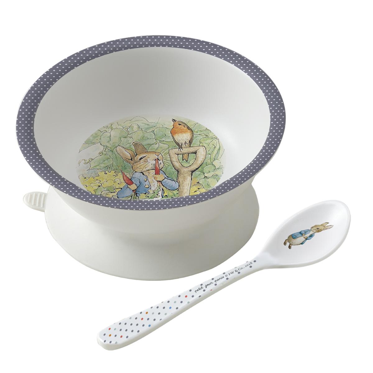 Bol + cuillère Beatrix Potter GRIS petit jour paris