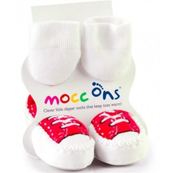 Gaspard et Zoe Chaussons Mocc Ons 6-12m rouge 6/12 mois