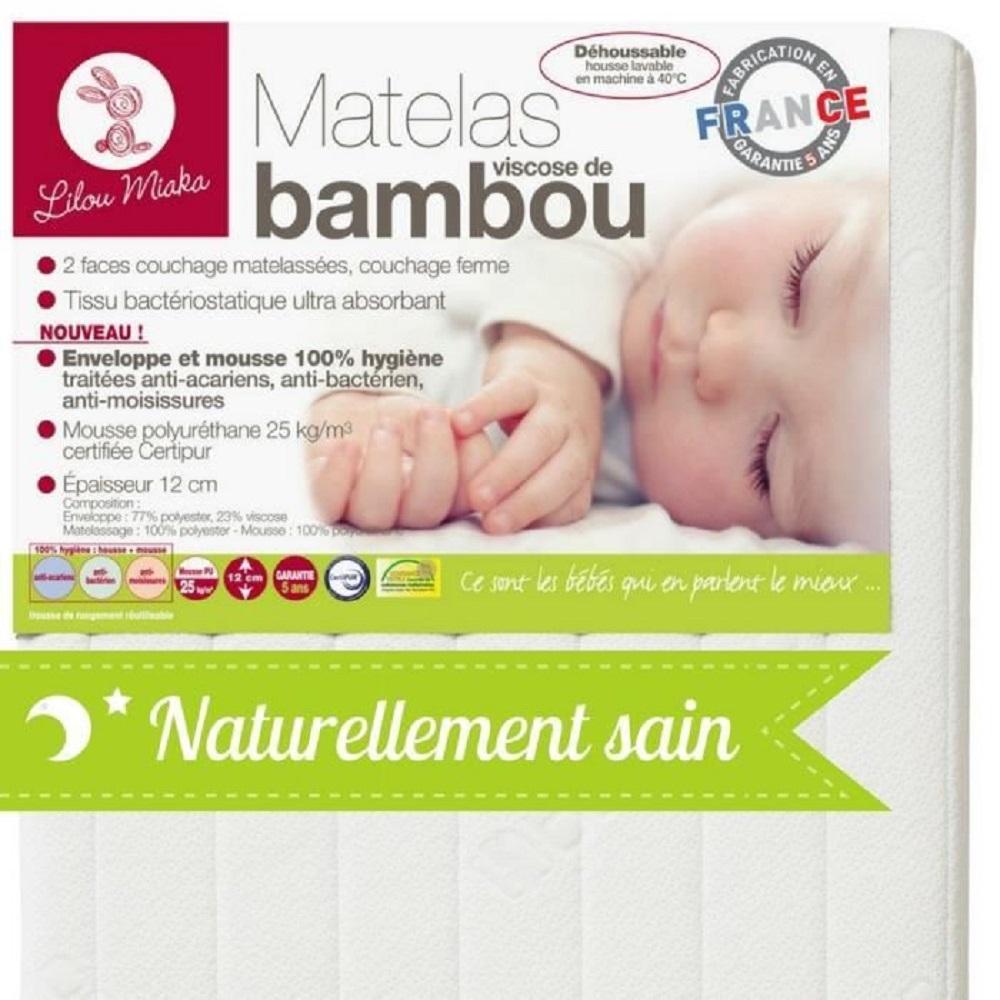 pour lit 60 x 120 LILOU MIAKA Matelas b/éb/é Confort Latex