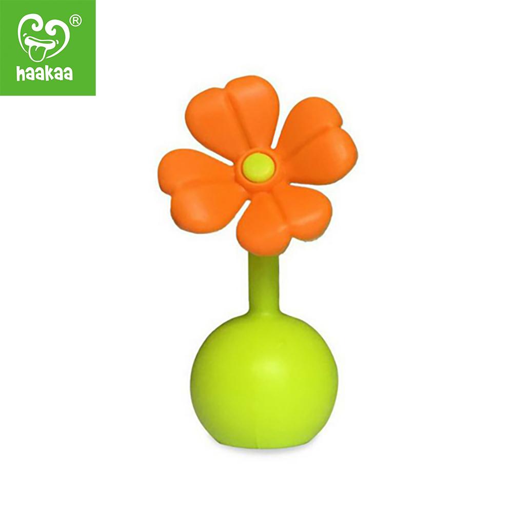 Bouchon Haakaa Silicone Petite Fleur ORANGE Haakaa